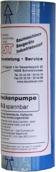 Stator Putzschnecke D6-3 - spannbar Gummi
