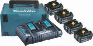 Makita Power Source Kit M 18,0V 4x5Ah DC18RD