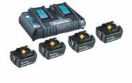 Makita Power Source Kit K 18,0V 4x5Ah DC18RD
