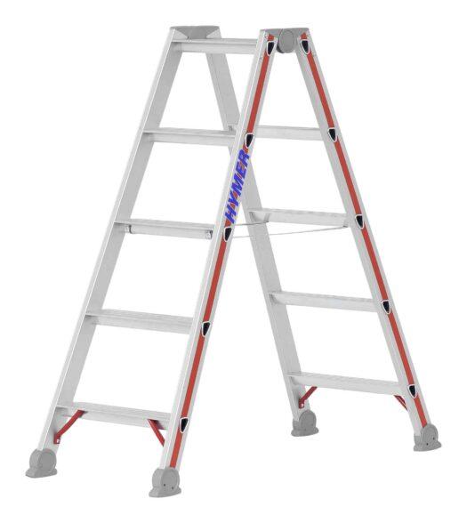 Hymer Stufenstehleiter beidseitig 4024 2x5 Stufen