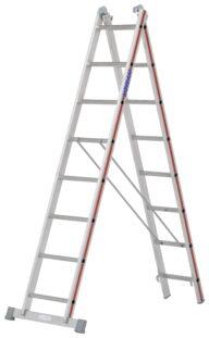 Hymer Mehrzweckleiter 2-teilig 4045 2x8 Sprossen