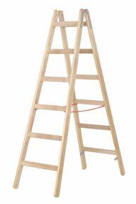 Hymer Holz-Sprossenstehleiter 7-1410 2x6 Sprossen