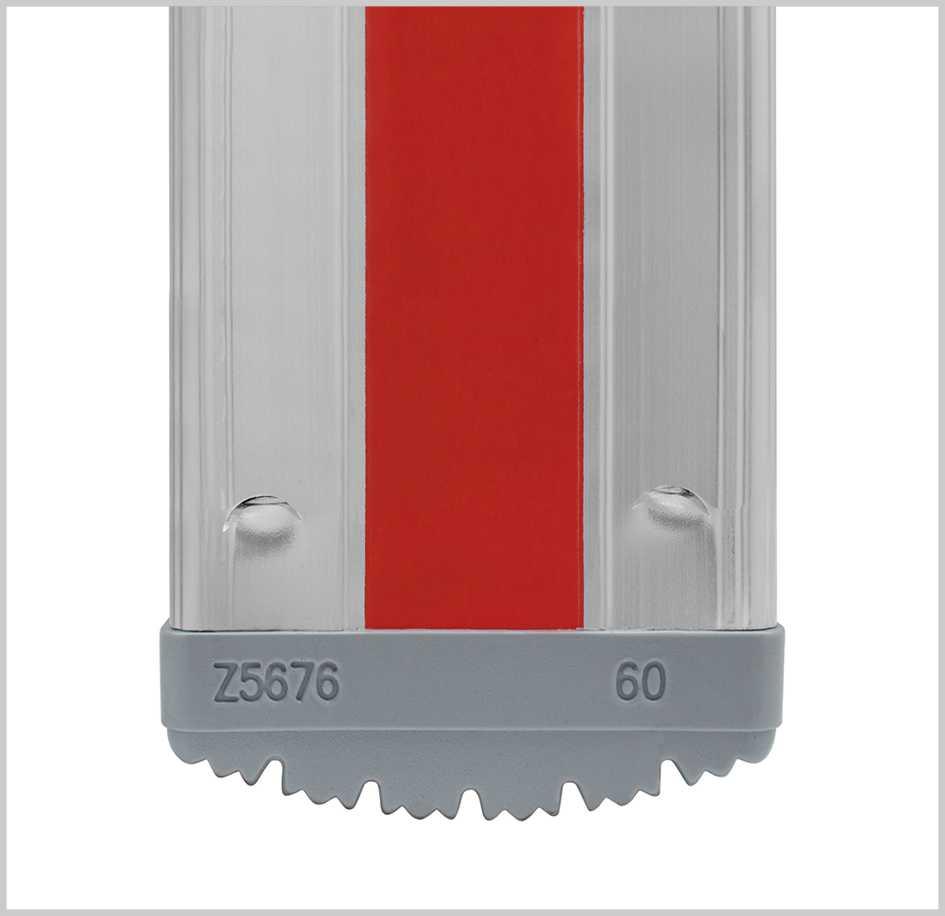 2x12 Sprossen HYMER 402324 Sprossenstehleiter beidseitig begehbar