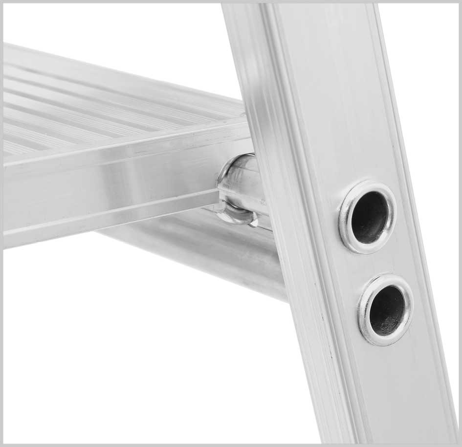 8 Stufen einseitig begehbar HYMER 802608 Stufenstehleiter mit Plattform SC80